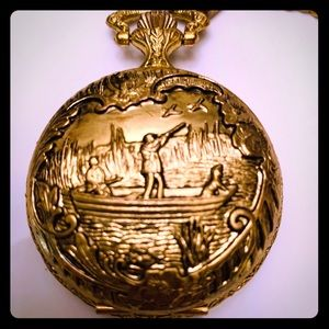 BERT PULITZER DUCK HUNTER POCKET WATCH